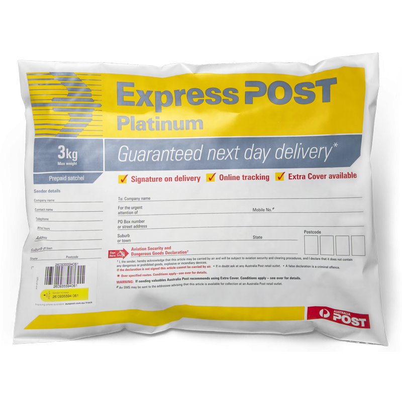 how to get a track numner from australian post