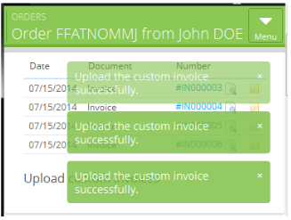 Add one or more custom invoices at the same time