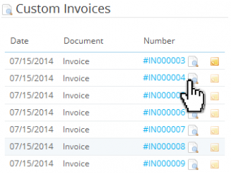 View / Download invoices at back office (order)