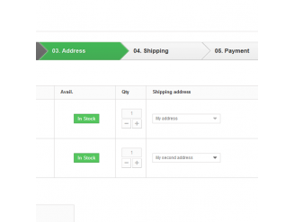 Multi-Shipping - Checkout step 3